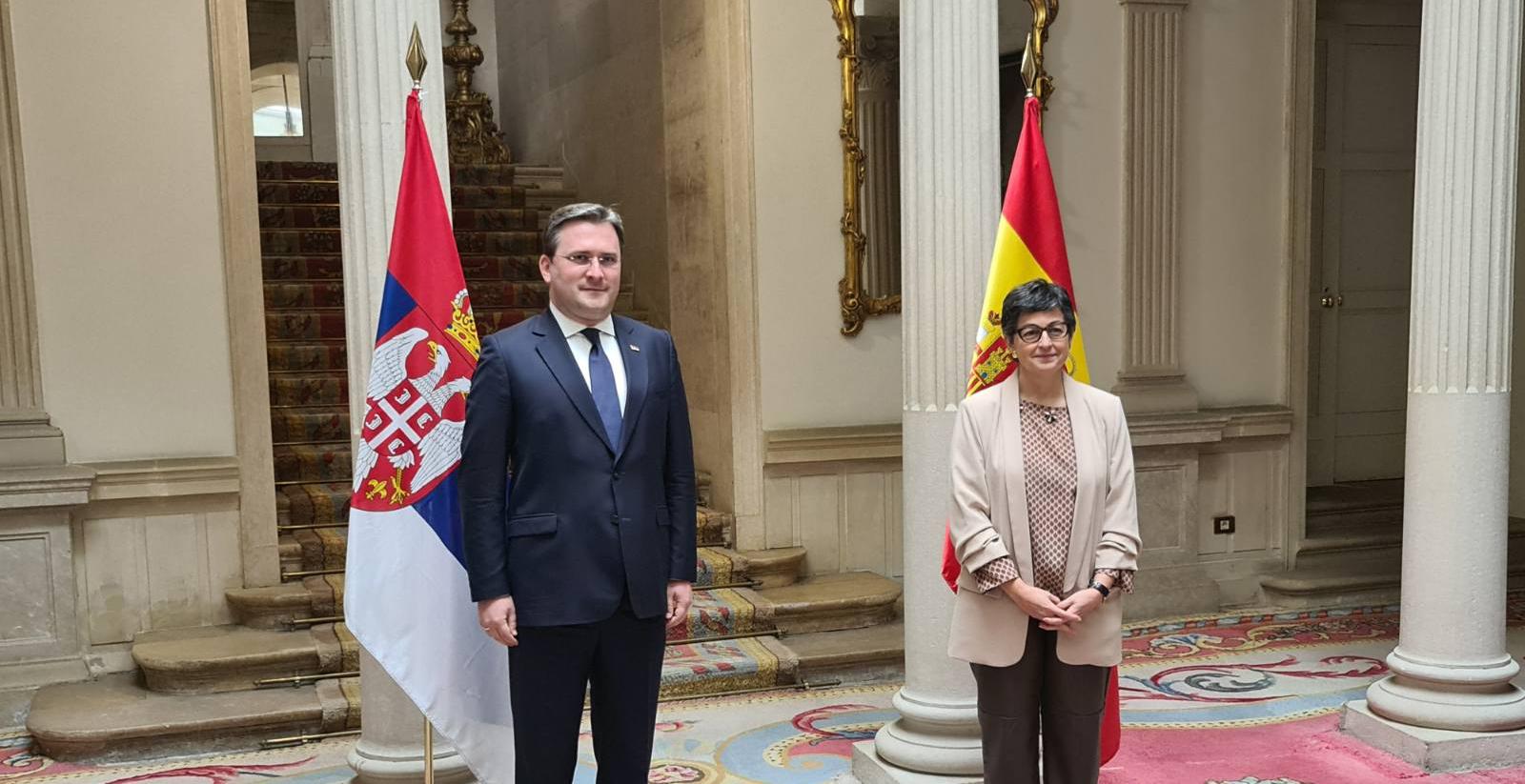 Мадрид: Србија може да рачуна на искрену подршку Шпаније у погледу очувања њеног територијалног интегритета