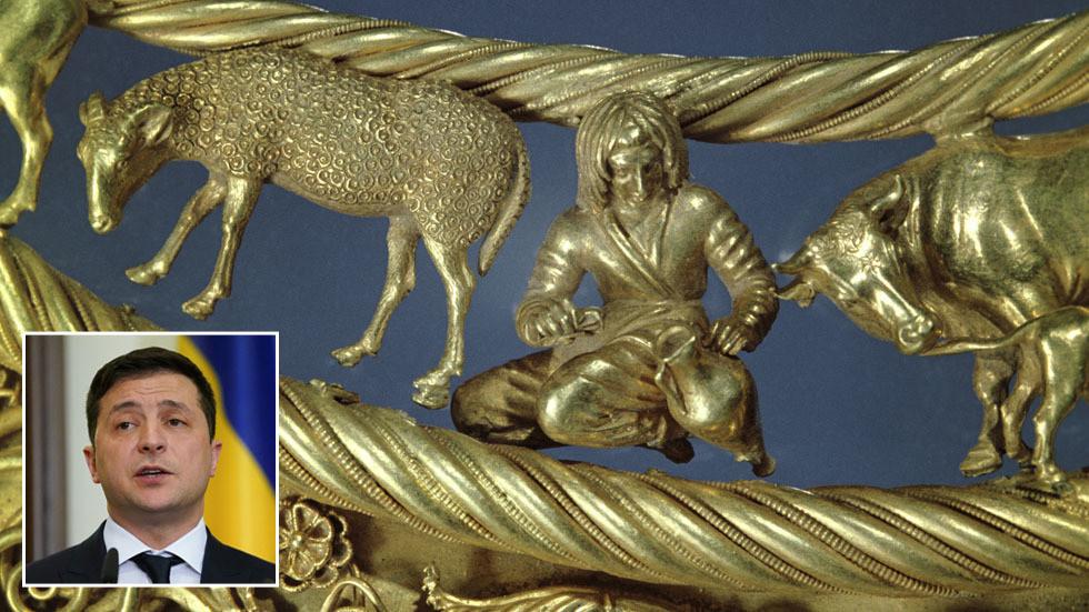 """РТ: """"Прво ћемо вратити скитско злато, а онда Крим"""", каже украјински председник, након што је холандски суд досудио Кијеву древне артефакте"""