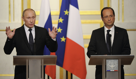 Путин и Оланд о сарадњи
