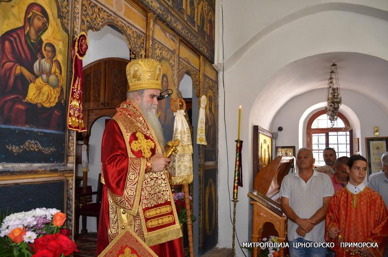 Митрополит Амфилохије у Цетињском манастиру: Хришћани се једино Богу живоме клањају