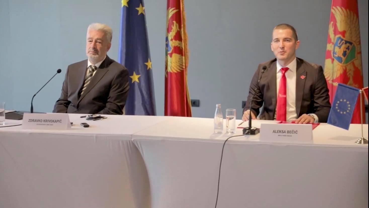 Кривокапић: Разговори о формирању нове Владе Црне Горе иду планираном динамиком