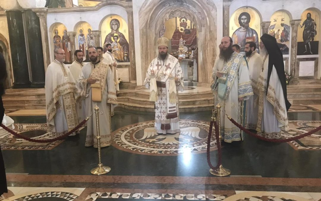 Епископ Сергије служио Свету заупокојену литургију и помен на гробу блаженопочившег Митрополита