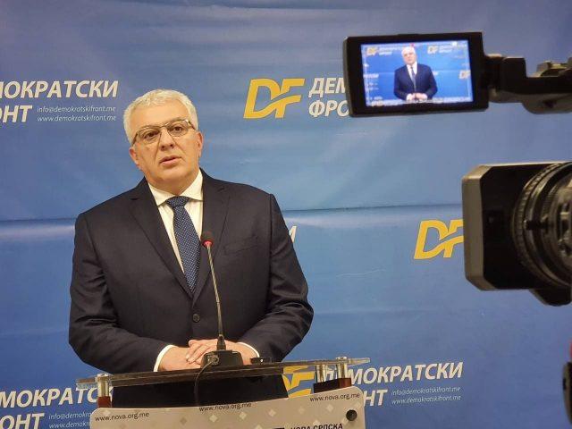 Мандић: Сви посланици Ђукановића и њихови сателити подржали премијера Кривокапића против министра Лепосавића
