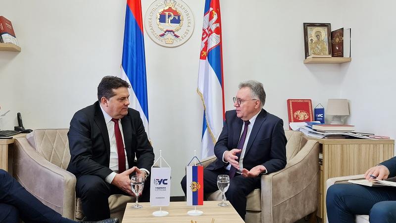 Стевандић и Калабухов разговарали о политичкој ситуацији у Републици Србској и БиХ