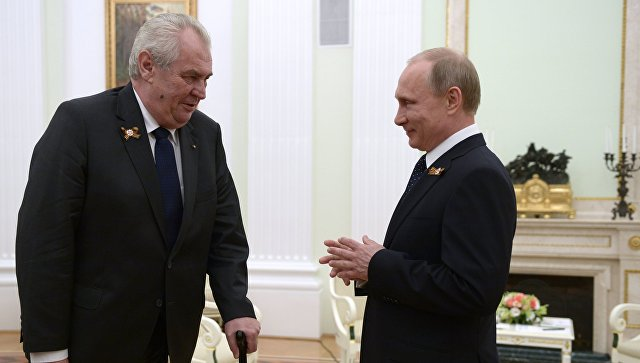 Путин честитао Земану на реизбору за председника Чешке