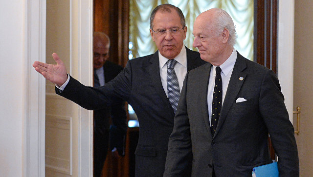 Мистура са Лавровом и Шојгуом о Сирији