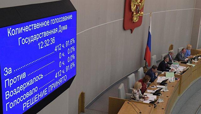 Државна дума у првом читању усвојила нацрт закона о контра-санкцијама