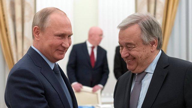 Путин: Русија спремна да и даље конструктивно сарађује са УН