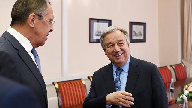 Lavrov i Gutereš: Svetske probleme rešavati kolektivno i poštovati svetski poredak zasnovan na međunarodnim pravilima