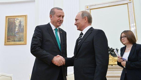 Путин и Ердоган истакли приоритет заједничких пројеката у области енергетике