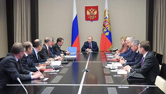 Путин одржао састанак са члановима Савета безбедности Русије