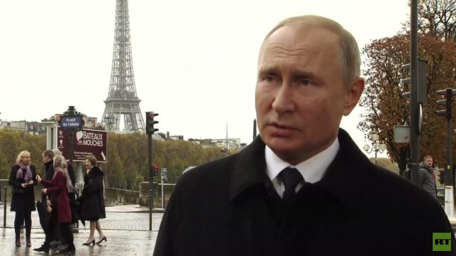 """РТ: """"Добро за мултиполарни свет"""": Путин подржао Макронов план о стварању """"Европске војске"""" који је осудио Трамп"""