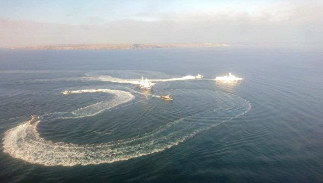 ФСБ: Три украјинска војна брода су заплењена