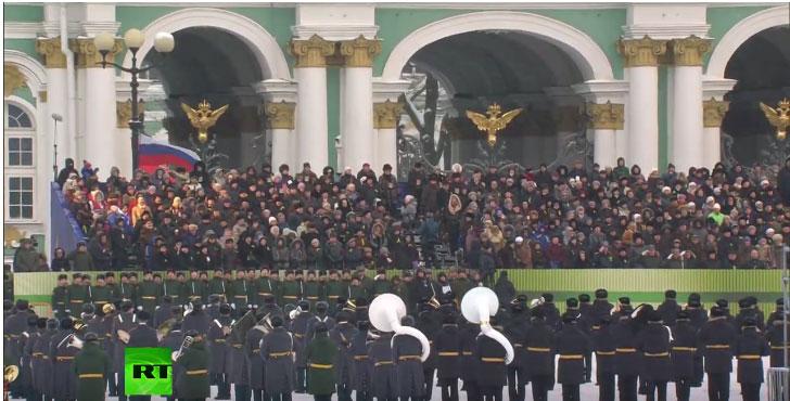 Парада у част 75. годишњице пробијања опсаде Лењинграда