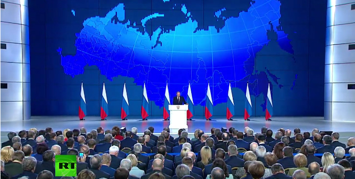 Obraćanje predsednika Putina Federalnoj skupštini - uživo