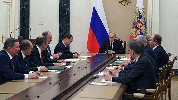 Путин одржао састанак са члановима Савета безбедности РФ