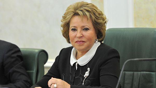 Матвијенкова: Украјина би прво требало да обустави сва борбена дејства