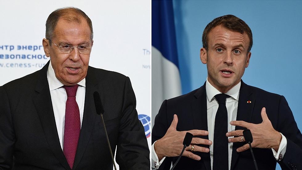 """RT: """"Kada se NATO oporavi, mi ćemo biti tu"""": Lavrov šaljivo o Makronovoj dijagnozi """"moždane smrte"""" NATO-a"""