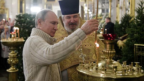 Putin: Ogromnu stvaralačku ulogu u jačanju duhovno-moralnih osnova društva igra Ruska pravoslavna crkva