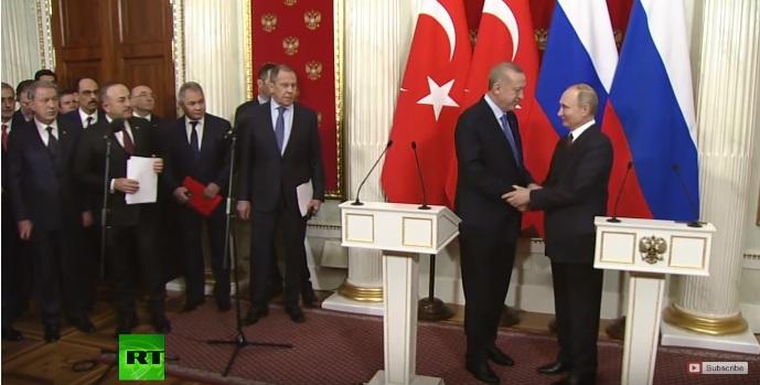 РТ: Русија и Турска договориле примирје у Идлибу након разговора Путина и Ердогана