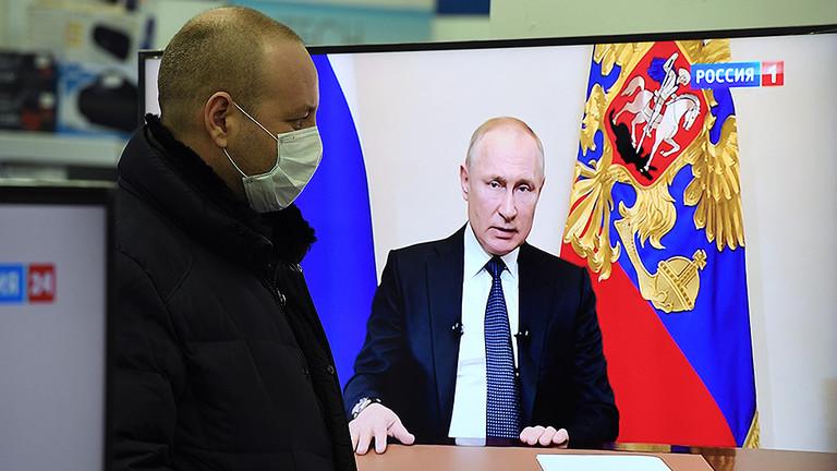 РТ: Нерадна седмица, финансијска подршка погођеним и порези за богате: Путин донео план у борби протиов коронавируса