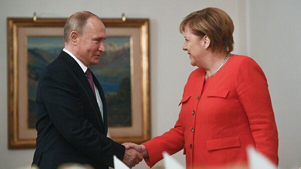 Путин и Меркелова међусобно честитали Дан победе