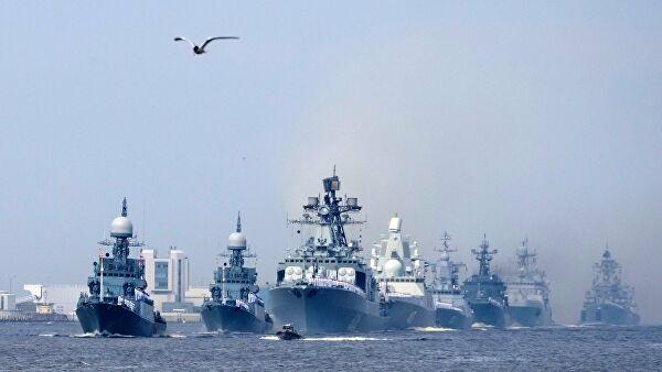 Парада руске морнарице у Санкт Петербургу