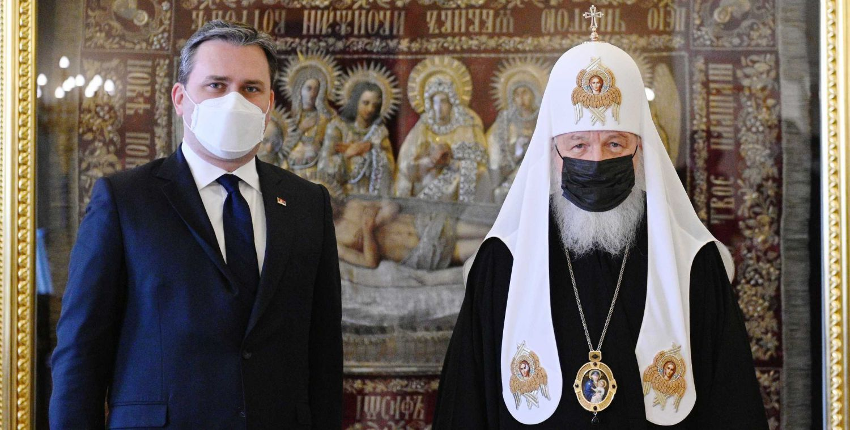 Patrijarh Kiril primio u Danilovskom manastiru ministra spoljnih poslova Srbije Nikolu Selakovića