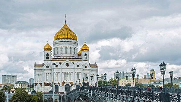 Vaskršnja liturgija u Hramu Hrista Spasitelja u Moskvi