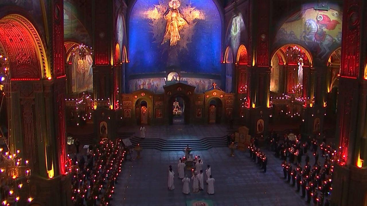 U Glavnom hramu Oružanih snaga Rusije prvu put održana vaskršnja liturgija