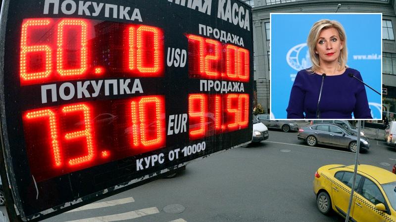 РТ: Злобне санкције наносе штету Русији, али Москва планира да одустане од америчког долара и зависности од Запада, наводи Захарова