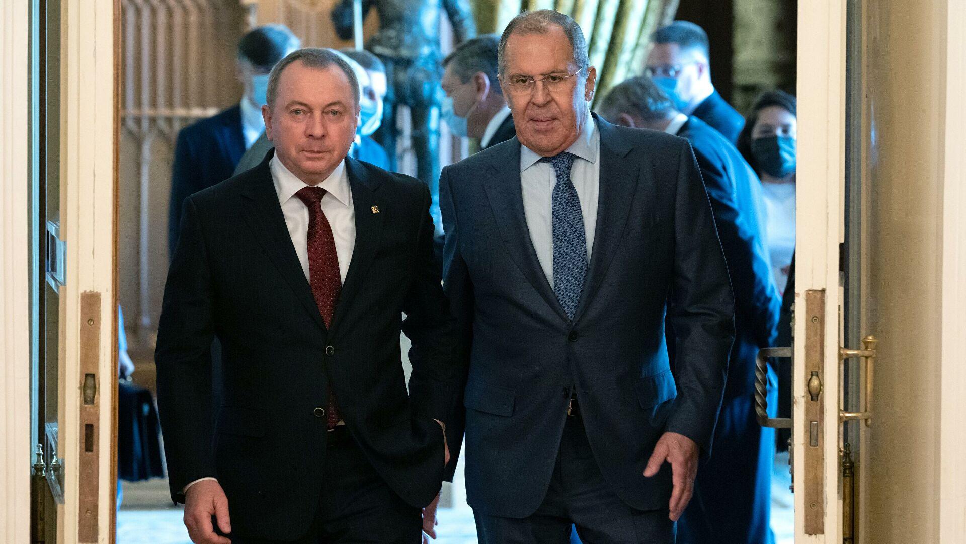 Лавров: Узимајући у обзир отворено агресивну линију Запада, Русија и Белорусија координишу напоре у циљу јачања државног суверенитета