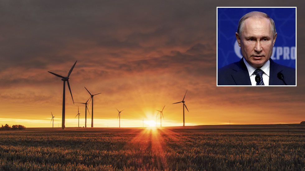 РТ: Растуће цене гаса у западној Европи због погрешног ослањања на ветроелектране, док је Русија на путу рекордног извоза гаса - Путин