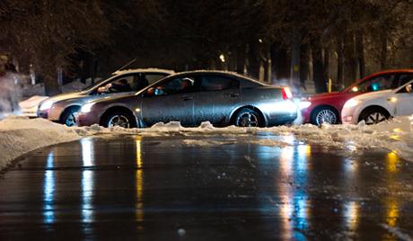 У Москви пала ледена киша
