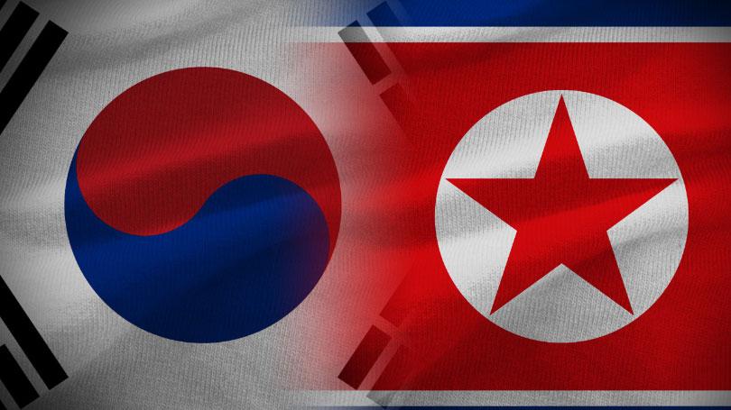 Репрезентације Северне и Јужне Кореје под заједничкмом заставом на отварању Олимпијаде