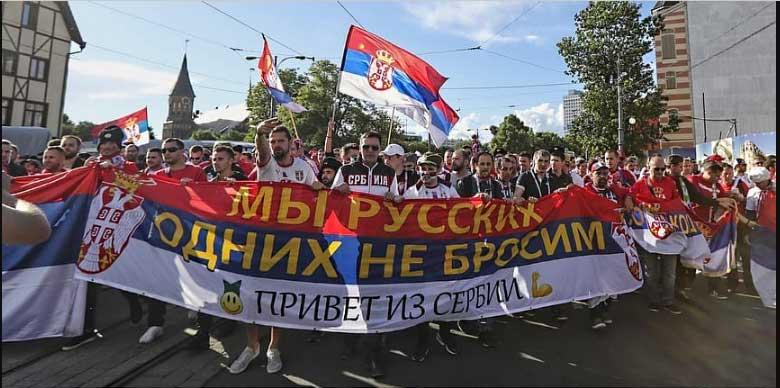 """""""Mi svoje Ruse ne napuštamo, pozdrav iz Srbije."""""""