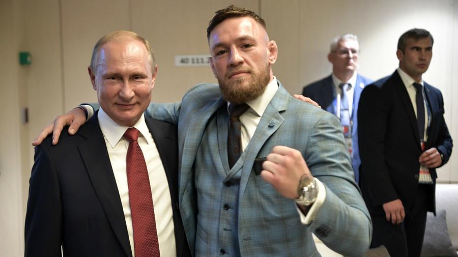 """РТ: """"Један од највећих лидера нашег времена!"""" - Мекгрегор са Путином након финала"""