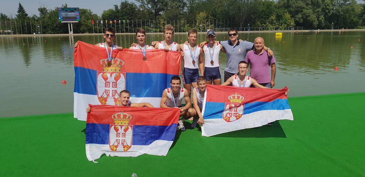 Veslačka reprezentacija Srbije osvojila 13 medalja na Balkanskom prvenstvu
