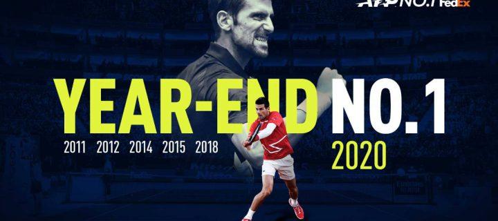 Novak šesti put godinu završava na vrhu ATP liste