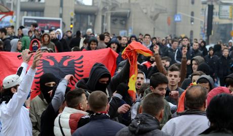 Албански националисти прекинули финале фудбалског Купа Македоније