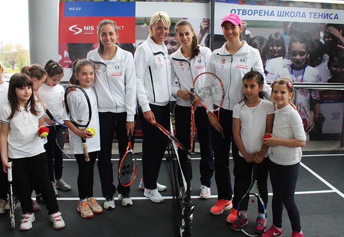 НИС Отворена школa тениса на ФЕД купу