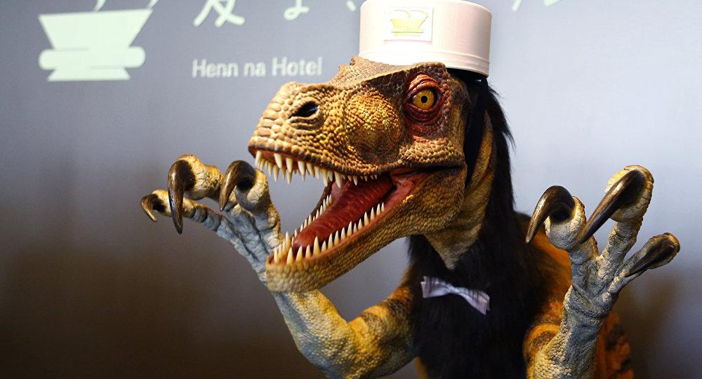 Роботи диносауруси у јапанском хотелу
