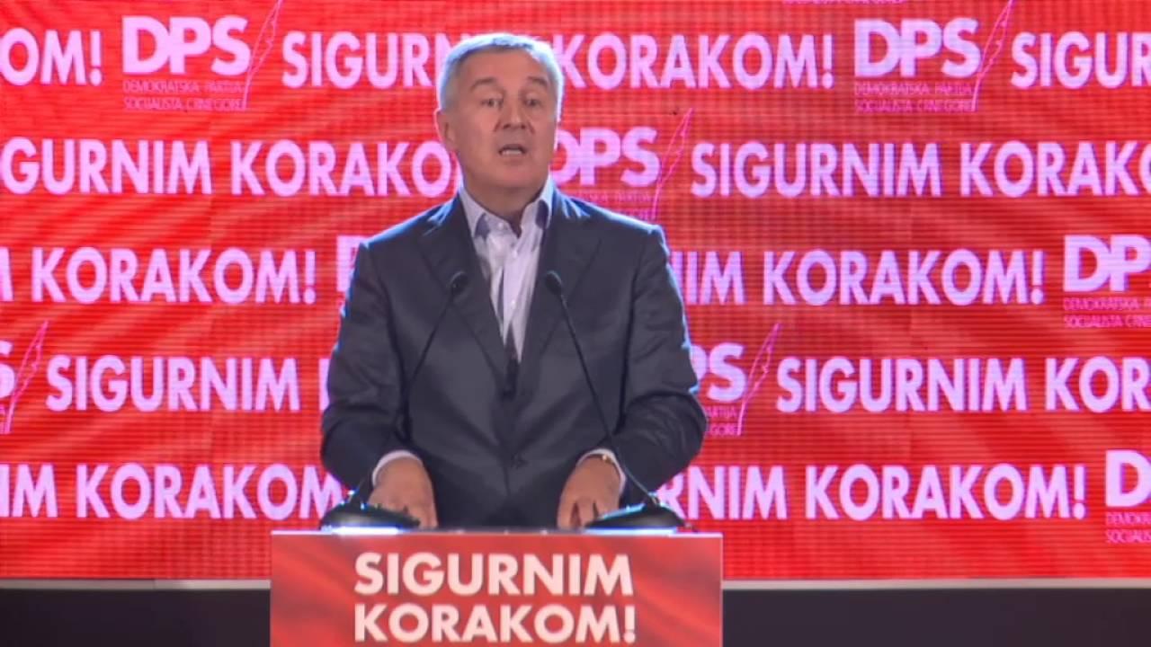 Đukanović kandidat DPS-a za predsednika Crne Gore