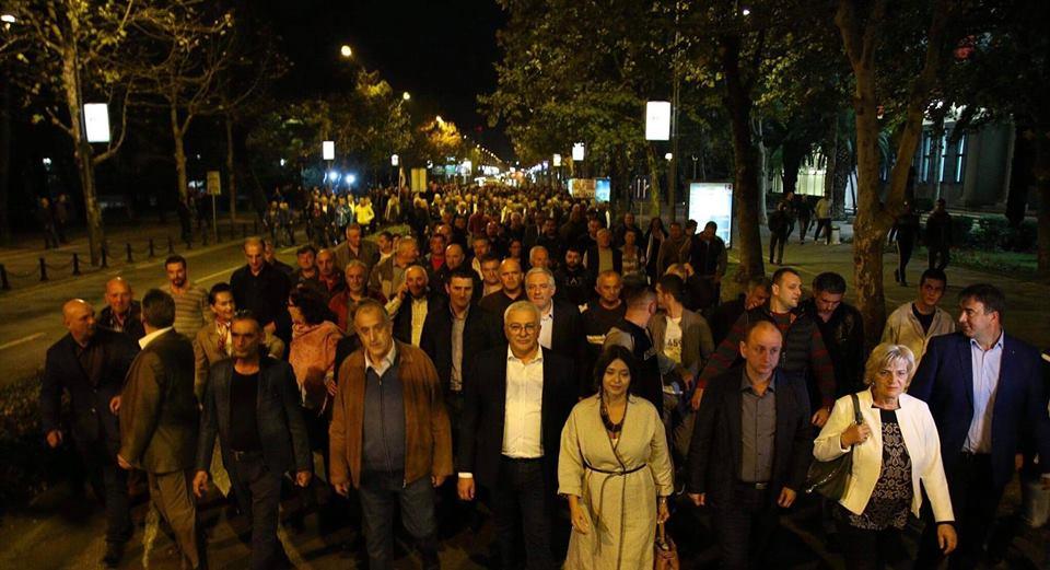 ДФ са протестне шетње: Нијесу нас сломили – настављамо борбу за слободу