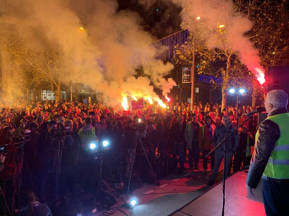 Протести у више градова Црне Горе