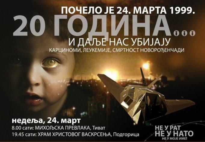 НЕ ЗАБОРАВЉАМО: У Подгорици и Тивту биће обиљежена 20. годишњица НАТО агресије