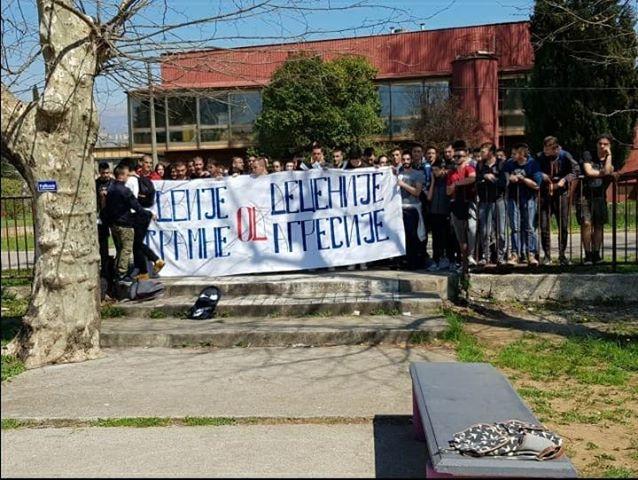 Даниловградски гимназијалци поново за понос: Осудили двије деценије од срамне агресије