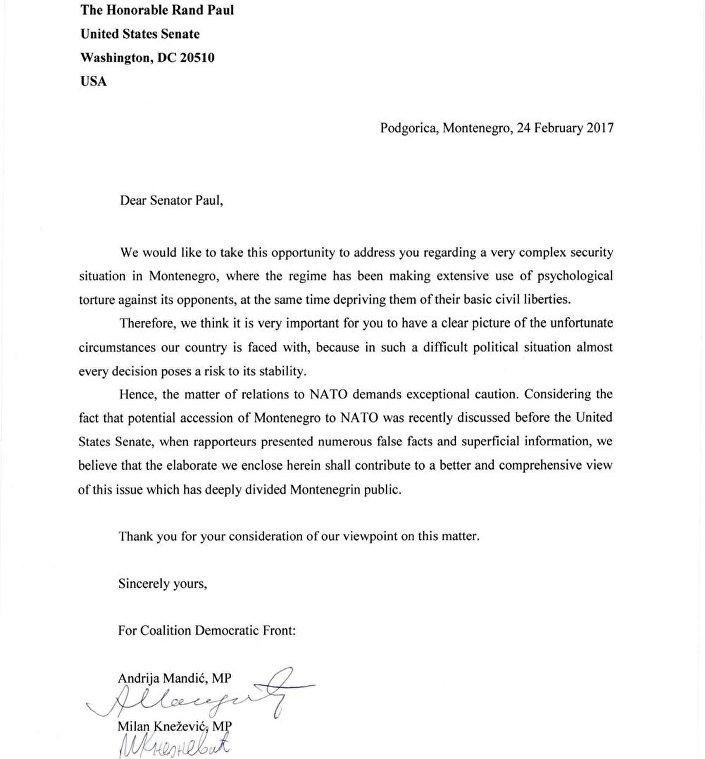 Мандић и Кнежевић писали Трампу: У црногорском друштву не постоји сагласност за пријем у НАТО