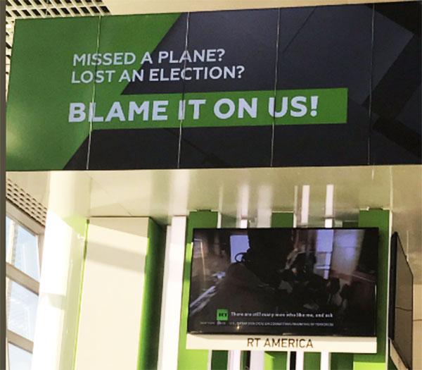 Zakasnili ste na avion, izgubili izbore? Rusija je kriva! - reklama RT-a