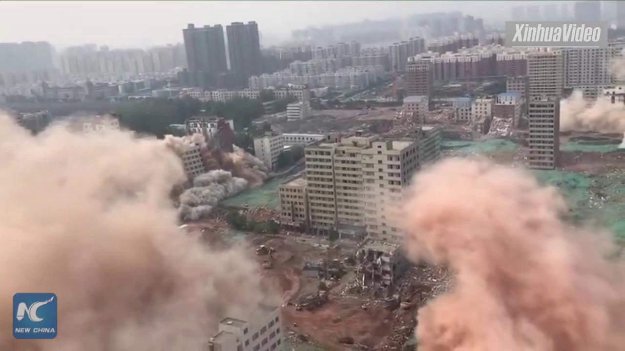 Кина - истовремено рушење 36 небодера